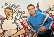 8 December 2009; Lifestyle Sports, Ireland's biggest player in sport this Christmas, unveiled it's latest store on Patrick Street in Cork City earlier today. Pictured is Cork hurling star Seán Óg Ó hAilpín in front of a specially commissioned Graffiti Mural of him which was erected in front of the store during the weekend. Patrick Street, Cork. Picture credit: Brian Lawless / SPORTSFILE