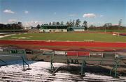 6 March 2001; Morton Stadium athletics track and home ground to Shamrock Rovers Soccer Club. All sporting events in Ireland have been postponed as a precautionary measure against Foot and Mouth disease. Photo by Damien Eagers/Sportsfile