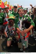 28 June 1994; Irish soccer fans, before the game in Giants Stadium, World Cup USA. Picture credit; David Maher/SPORTSFILE