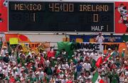 28 June 1994; Mexico soccer fans, World Cup USA, Scoreboard. Picture credit; David Maher/SPORTSFILE