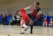 10 February 2016; Rachel Kearns, IT Sligo, in action against Rianna Jarrett, IT Carlow, in the WSCAI Futsal Final. University of Limerick, Limerick. Picture credit: Diarmuid Greene / SPORTSFILE