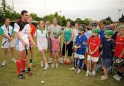 11 December 2009; Séan Óg Ó hAilpín, Cork, with members of the local hurling club before a light training / coaching session in advance of the game. GAA Hurling All-Stars Tour 2009 sponsored by Vodafone, Hurlingham Grounds, Hurlingham, Buenos Aires, Argentina. Picture credit: Ray McManus / SPORTSFILE