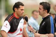 11 December 2009; Séan Óg Ó hAilpín, Cork, is interviewed by Paul Collins, Today FM, after a light training / coaching session in advance of the game. GAA Hurling All-Stars Tour 2009 sponsored by Vodafone, Hurlingham Grounds, Hurlingham, Buenos Aires, Argentina. Picture credit: Ray McManus / SPORTSFILE