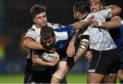 12 February 2016; Ross Molony, Leinster, is tackled by Bruno Postiglioni and Gideon Koegelenberg, Zebre. Guinness PRO12, Round 14, Leinster v Zebre, RDS Arena, Ballsbridge, Dublin. Picture credit: Matt Browne / SPORTSFILE