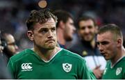 13 February 2016; Ireland's Jamie Heaslip following his side's defeat. RBS Six Nations Rugby Championship, France v Ireland. Stade de France, Saint Denis, Paris, France. Picture credit: Ramsey Cardy / SPORTSFILE