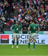 13 February 2016; Conor Murray, 9, and Jamie Heaslip, Ireland, after the final whistle. RBS Six Nations Rugby Championship, France v Ireland. Stade de France, Saint Denis, Paris, France. Picture credit: Brendan Moran / SPORTSFILE