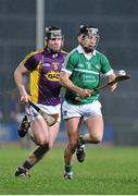 13 February 2016; John Fitzgibbon, Limerick, in action against Andrew Kenny, Wexford. Allianz Hurling League, Division 1B, Round 1, Limerick v Wexford. Gaelic Grounds, Limerick. Picture credit: Sam Barnes / SPORTSFILE