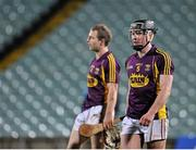 13 February 2016; Andrew Kenny, right, and James Breen, Wexford, dejected after the game. Allianz Hurling League, Division 1B, Round 1, Limerick v Wexford. Gaelic Grounds, Limerick. Picture credit: Sam Barnes / SPORTSFILE
