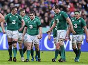 13 February 2016; Ireland forwards, from left, Donnacha Ryan, Jamie Heaslip, James Cronin, Devin Toner and CJ Stander make their way to a lineout . RBS Six Nations Rugby Championship, France v Ireland. Stade de France, Saint Denis, Paris, France. Picture credit: Ramsey Cardy / SPORTSFILE