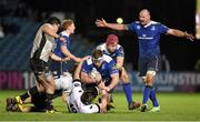 12 February 2016; Michael Bent, Leinster, is tackled by Andre De Marchi, left, and Federico Ruzza, Zebre. Guinness PRO12, Round 14, Leinster v Zebre, RDS Arena, Ballsbridge, Dublin. Picture credit: Cody Glenn / SPORTSFILE