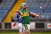 14 February 2016; Mikey Boyle, Kerry, shoots to score his side's 1st goa despite the efforts of Darren Maher, Laoisl. Allianz Hurling League, Division 1B, Round 1, Laois v Kerry. O'Moore Park, Portlaoise, Co. Laois. Picture credit: Paul Mohan / SPORTSFILE