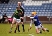 14 February 2016; Oisin Carroll, Laois, in action against John Egan, Kerry. Allianz Hurling League, Division 1B, Round 1, Laois v Kerry. O'Moore Park, Portlaoise, Co. Laois. Picture credit: Paul Mohan / SPORTSFILE