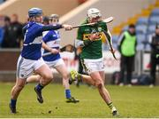 14 February 2016; Shane Nolan, Kerry, in action against Darren Maher, Laois. Allianz Hurling League, Division 1B, Round 1, Laois v Kerry. O'Moore Park, Portlaoise, Co. Laois. Picture credit: Paul Mohan / SPORTSFILE