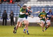 14 February 2016; Colum Harty, Kerry, in action against Leigh Bergin, Laois. Allianz Hurling League, Division 1B, Round 1, Laois v Kerry. O'Moore Park, Portlaoise, Co. Laois. Picture credit: Paul Mohan / SPORTSFILE