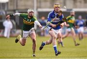 14 February 2016; Ciaran Collier, Laois, in action against Shane Nolan, Kerry. Allianz Hurling League, Division 1B, Round 1, Laois v Kerry. O'Moore Park, Portlaoise, Co. Laois. Picture credit: Paul Mohan / SPORTSFILE