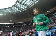 13 February 2016; Ireland's Jamie Heaslip runs out ahead of the game. RBS Six Nations Rugby Championship, France v Ireland. Stade de France, Saint Denis, Paris, France. Picture credit: Ramsey Cardy / SPORTSFILE