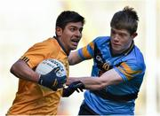 15 February 2016; Shehroz Akram, DCU, in action against Brian O Seanachain, UCD. Fresher 'A' Football Championship Final. University College Dublin v Dublin City University. Croke Park, Dublin. Picture credit: Cody Glenn / SPORTSFILE