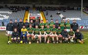 14 February 2016; The Kerry squad. Allianz Hurling League, Division 1B, Round 1, Laois v Kerry. O'Moore Park, Portlaoise, Co. Laois. Picture credit: Paul Mohan / SPORTSFILE
