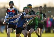 17 February 2016; Willie Hassey, Waterford Institute of Technology, in action against Paul Killeen, Limerick Institute of Technology. Independent.ie HE GAA Fitzgibbon Cup, Quarter-Final, Limerick Institute of Technology v Waterford Institute of Technology, LIT Grounds, Limerick. Picture credit: Matt Browne / SPORTSFILE