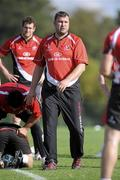 5 October 2009; Ulster assistants forward coach Jeremy Davidson during squad training ahead of their Heineken Cup game against Bath. Newforge Country Club, Belfast, Co. Antrim. Picture credit: Oliver McVeigh / SPORTSFILE