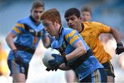 15 February 2016; Dermot Gleeson, UCD, in action against Shehroz Akram, DCU. Fresher 'A' Football Championship Final. University College Dublin v Dublin City University. Croke Park, Dublin. Picture credit: Cody Glenn / SPORTSFILE