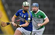 21 February 2016; Mikey Boyle, Kerry, in action against Richie McCarthy, Limerick. Allianz Hurling League, Division 1B, Round 2, Kerry v Limerick, Fitzgerald Stadium, Killarney, Co. Kerry. Picture credit: Brendan Moran / SPORTSFILE