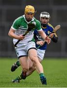 21 February 2016; Paul Browne, Limerick, in action against Jack Goulding, Kerry. Allianz Hurling League, Division 1B, Round 2, Kerry v Limerick, Fitzgerald Stadium, Killarney, Co. Kerry. Picture credit: Brendan Moran / SPORTSFILE