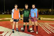 21 January 2010; Dublin Senior Hurlers captain Kevin Flynn with St. Declan's All-Stars captain Stuart Mullen and referee Barry Kelly, Westmeath. St. Declan's All-Stars v Dublin Senior Hurlers, St. Brigid's GAA, Russell Park, Dublin. Picture credit: Stephen McCarthy / SPORTSFILE