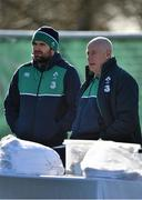 23 February 2016; Ireland's Jared Payne, left, and team manager Michael Kearney look on during squad training. Carton House, Maynooth, Co. Kildare. Picture credit: Brendan Moran / SPORTSFILE