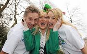 26 January 2010; At the announcement of this year's KBC Asset Management St. Patrick's 5K Festival Road Race are Michelle Costello, Race Director Eamonn Coghlan and Kate O'Neill, right. The event will take place in Dublin on Sunday, 14th March beginning at 12.00 noon from the Mansion House where it will be officially started by the Lord Mayor of Dublin, Cllr. Emer Costello. From there it will follow a route through Georgian Dublin returning again to the finish line at the Mansion House. This is the fifth year of the event which is being held as part of the St. Patrick's Festival Week and the first city street race in a year when Dublin celebrates its status as European Capital of Sport. Open to elite athletes and fun runners alike, it is hoped that some 5,000 runners will take part. Registration can be made on-line at <www.patricksrun.com> or by post to Mary Friel, Hon. Secretary, MSB5K, Unit 2, Coolport, Coolmine Business Park, Dublin 15. An entry fee of EUR15 applies to all entries received before March 8th. St. Stephen's Green, Dublin. Picture credit: Paul Mohan / SPORTSFILE