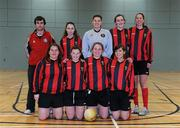 30 January 2010; The Trinity squad. WSCAI National Futsal Plate Semi-Final 2, Trinity v CCFE, Kingfishers Sports Centre, NUIG, University Road, Galway. Picture credit: Matt Browne / SPORTSFILE