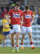 28 February 2016; Cork's Tomas Clancy and Eoin Cadogan react during the game. Allianz Football League, Division 1, Round 3, Cork v Roscommon. Páirc Uí Rinn, Cork. Picture credit: Diarmuid Greene / SPORTSFILE