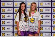 1 June 2016; Lidl National Football League Division 1 Team of the League 2016 Galway players Shauna Hynes, left, and Megan Glynn at the Lidl Ladies Team of the Leagues Award Night. The Lidl Teams of the League were presented at Croke Park with 60 players recognised for their performances throughout the 2016 Lidl National Football League Campaign. The 4 teams were selected by opposition managers who selected the best players in their position with the players receiving the most votes being selected in their position. Croke Park, Dublin. Photo by Cody Glenn/Sportsfile