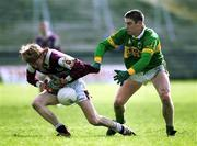 15 April 2001; Lorcan Colleran of Galway is tackled by Darragh Ó Sé of Kerry during the Allianz GAA National Football League Division 1A match between Galway and Kerry at Tuam Stadium in Tuam, Galway. Photo by Brendan Moran/Sportsfile