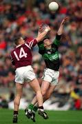 16 April 2001; Niall Neary, Nemo Rangers in action against Crossmilona's Liam Moffatt, AIB All-Ireland Club Football Final, Crossmilona Deel Rovers v Nemo Rangers, Croke Park, Dublin. Picture credit; Damien Eagers / SPORTSFILE