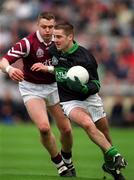 16 April 2001; Niall Geary, Nemo Rangers in action against Liam Moffatt, Crossmolina. Crossmolina v Nemo Rangers, All-Ireland Football Final, Croke Park, Dublin. Picture credit; Damien Eagers / SPORTSFILE