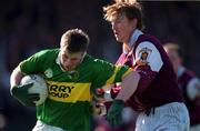 15 April 2001; Tomas Ó Sé of Kerry in action against Lorcan Colleran of Galway during the Allianz GAA National Football League Division 1A match between Galway and Kerry at Tuam Stadium in Tuam, Galway. Photo by Brendan Moran/Sportsfile