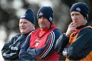 28 February 2016; Cork selector Eamonn Ryan, left, manager Peadar Healy, centre, and performance coach Conor McCarthy, right, look on during the game. Allianz Football League, Division 1, Round 3, Cork v Roscommon. Páirc Uí Rinn, Cork. Picture credit: Diarmuid Greene / SPORTSFILE