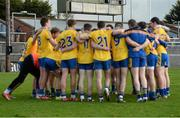 28 February 2016; The Roscommon team gather together in a huddle as the final score is displayed on the scoreboard after the game. Allianz Football League, Division 1, Round 3, Cork v Roscommon. Páirc Uí Rinn, Cork. Picture credit: Diarmuid Greene / SPORTSFILE