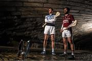 29 February 2016; Shane McNaughton, right, from Ruairí Óg, Cushendall, is pictured alongside Na Piarsaigh's David Breen ahead of their clash in the AIB GAA Senior Hurling Club Championship Final in Croke Park on St Patrick's Day. For exclusive content and to see why AIB are backing Club and County follow us @AIB_GAA and on Facebook at Facebook.com/AIBGAA. AIB GAA Senior Football Club Championship Finals Media Day. Grand Canal Quay, Dublin. Picture credit: Stephen McCarthy / SPORTSFILE