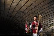 29 February 2016; Ruairí Óg Cushendall's Shane McNaughton is pictured ahead of this year's AIB GAA Senior Hurling Club Championship Final. The Antrim club will face Limerick's Na Piarsaigh in Croke Park on St Patrick's Day. For exclusive content and to see why the AIB Club Championships are #TheToughest follow us @AIB_GAA and on Facebook at facebook.com/AIBGAA. AIB GAA Senior Football Club Championship Finals Media Day. Grand Canal Quay, Dublin. Picture credit: Stephen McCarthy / SPORTSFILE