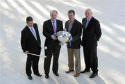 10 February 2010; At the launch of the Allianz GAA hurling leagues 2010, are from left, Liam Sheedy, Tipperary manager, Brendan Murphy, CEO, Allianz Ireland, Denis Walsh, Cork manager, and Brian Cody, Kilkenny manager. Allianz Headquarters, Allianz House, Elmpark, Merrion Road, Dublin. Picture credit: Brendan Moran / SPORTSFILE