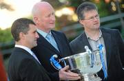 10 February 2010; At the launch of the Allianz GAA hurling leagues 2010, are managers from left, Liam Sheedy, Tipperary, Brian Cody, Kilkenny and Denis Walsh, Cork. Allianz Headquarters, Allianz House, Elmpark, Merrion Road, Dublin. Picture credit: Stephen McCarthy / SPORTSFILE
