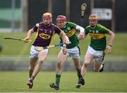 6 March 2016; Andrew Shore, Wexford, in action against Tommy Casey, Kerry. Allianz Hurling League, Division 1B, Round 3, Kerry v Wexford. Austin Stack Park, Tralee, Co. Kerry. Picture credit: Brendan Moran / SPORTSFILE