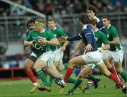 13 February 2010; Jamie Heaslip, Ireland, in action against France. RBS Six Nations Rugby Championship, France v Ireland, Stade de France, Saint Denis, Paris, France. Picture credit: Brian Lawless / SPORTSFILE *** Local Caption ***