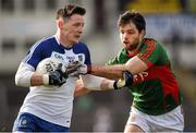 6 March 2016; Conor McManus, Monaghan, in action against Ger Cafferkey, Mayo. Allianz Football League, Division 1, Round 4, Monaghan v Mayo. St Tiernach's Park, Clones, Co. Monaghan. Picture Credit: Philip Fitzpatrick / SPORTSFILE