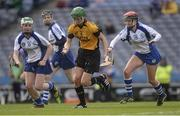 6 March 2016; Anne Marie Hayes, Killimor, in action against Laura Stack, left, and Maria Watson. AIB All-Ireland Senior Camogie Club Championship Final 2015, Milford v Killimor. Croke Park, Dublin. Picture credit: Piaras Ó Mídheach / SPORTSFILE