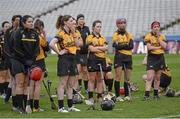 6 March 2016; Dejected Killimor players after the game. AIB All-Ireland Senior Camogie Club Championship Final 2015, Milford v Killimor. Croke Park, Dublin. Picture credit: Piaras Ó Mídheach / SPORTSFILE