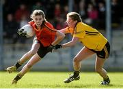 7 March 2016; Anna-Rose Kennedy, John The Baptist CS, Limerick, in action against Emma Flanagan, Holy Rosary College Mountbellew, Galway. Lidl All Ireland Senior B Post Primary Schools Championship Final. Holy Rosary College Mountbellew, Galway, v John The Baptist CS, Limerick. Gort GAA, Gort, Co. Galway. Picture credit: Piaras Ó Mídheach / SPORTSFILE
