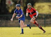 21 February 2010; Anne Dalton, WIT, in action against Orla Cotter, UCC. Ashbourne Cup Final Waterford Institute of Technology v University College Cork. Cork Institute of Technology, Cork. Picture credit: Stephen McCarthy / SPORTSFILE